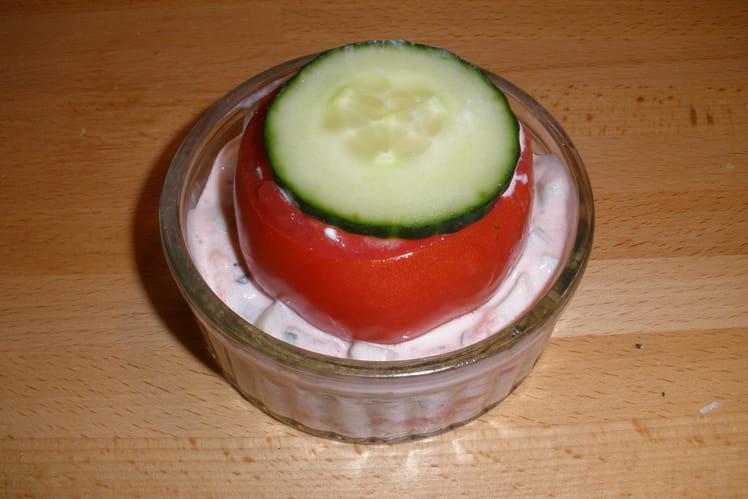 Tomate farcie végétarienne