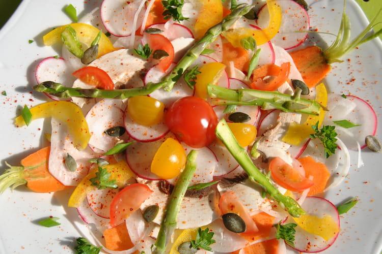Carpaccio de salade de printemps
