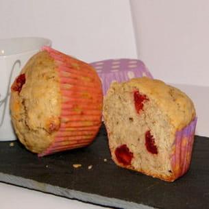 muffins aux fraises séchées