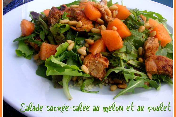 Salade sucrée-salée au melon et au poulet