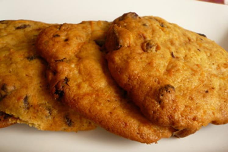 Cookies au potiron, raisins secs et pépites de chocolat