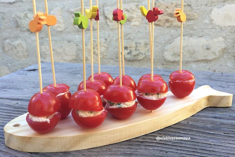 Tomates cerise farcies à la ricotta