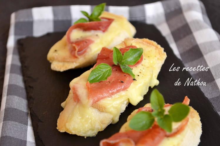 Crostini façon raclette