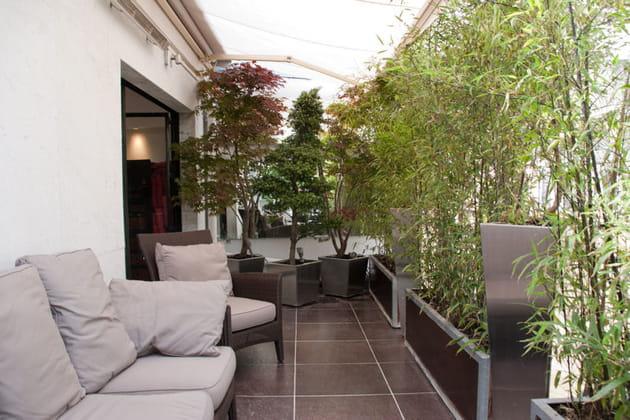 Balcon façon jardin japonais