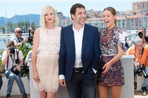 Charlize Theron, Javier Bardem et Adèle Exarchopoulos se marrent au photocall...