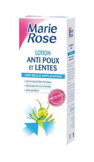 lotion anti-poux et lentes marie rose, 125 ml, 8,55 euros. a partir de 3 ans.