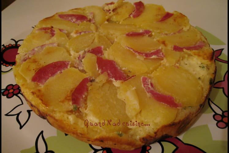 Tatin de pommes de terre au saint-nectaire