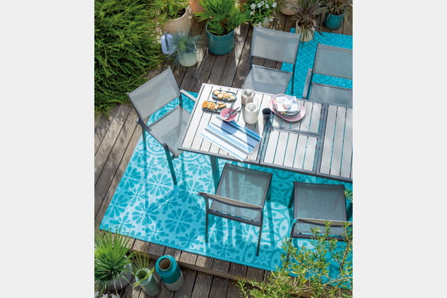 tapis motif floral de jardiland. Black Bedroom Furniture Sets. Home Design Ideas