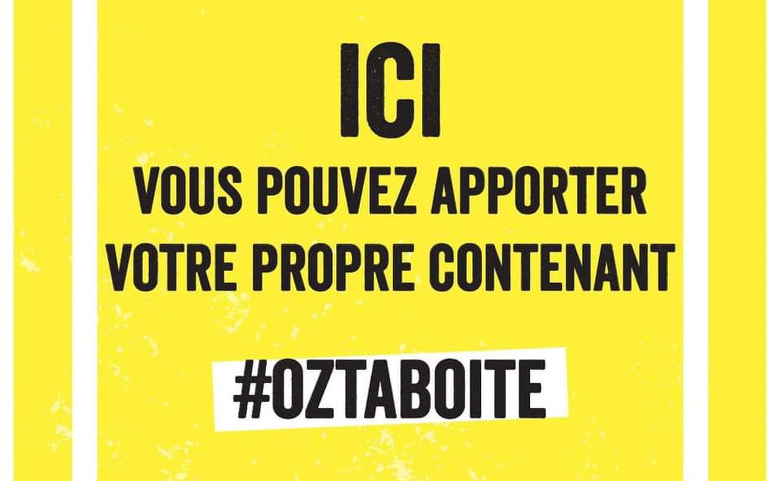 #OzTaBoîte: ramener son contenant au resto pour limiter le gaspillage