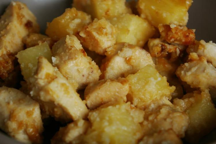 Poulet amandes et ananas