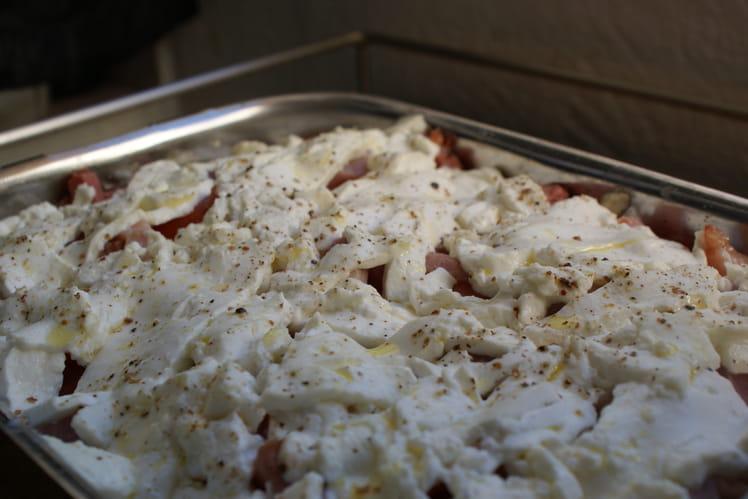 Gratin de courgettes sans gluten et lait de vache
