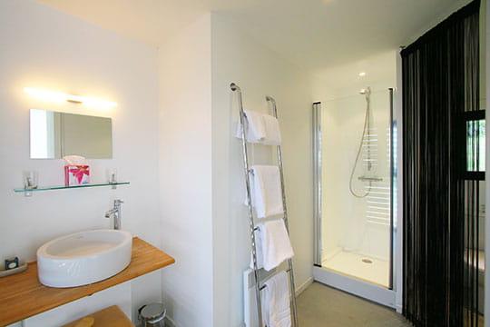 Salle de bains black & white