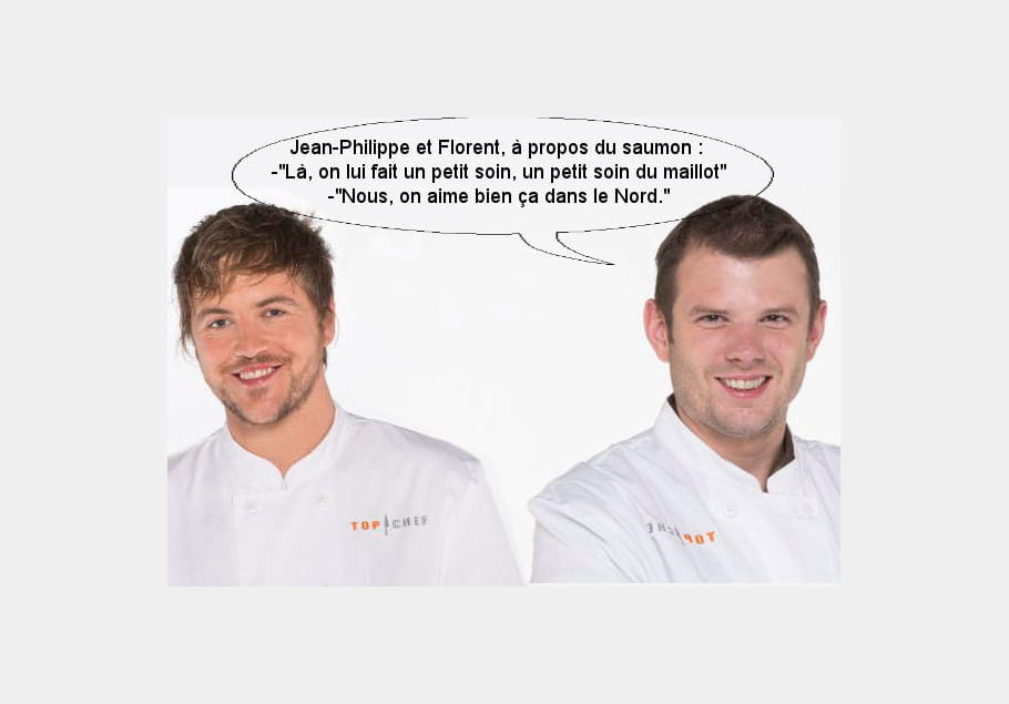 Florent et Jean-Philippe à propos d'un saumon : On lui fait un petit soin du maillot