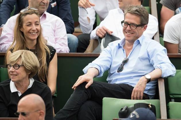 Hugh Grant et sa compagne Anna Eberstein