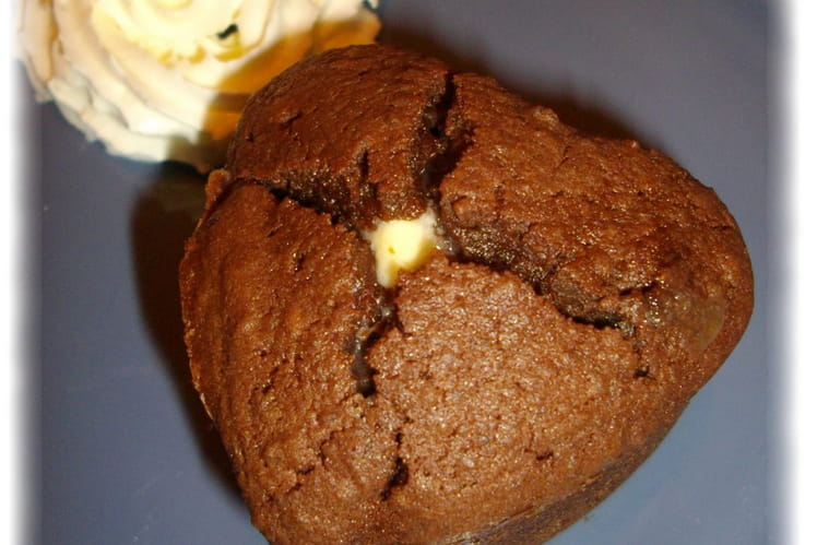 Coeurs fondants chocolat et marron