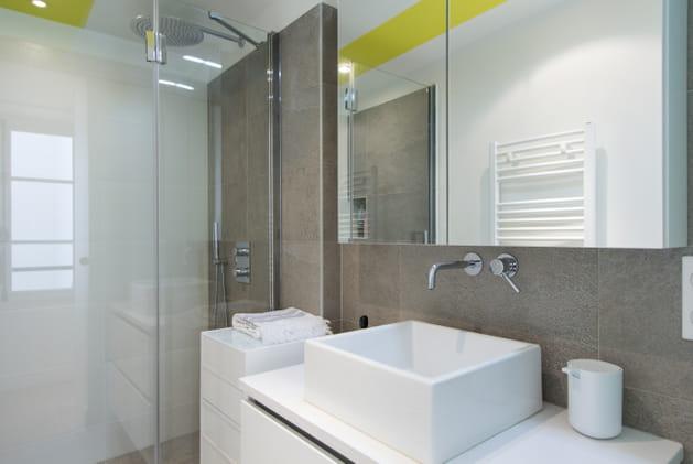 Une petite salle de bains à l'allure d'une grande