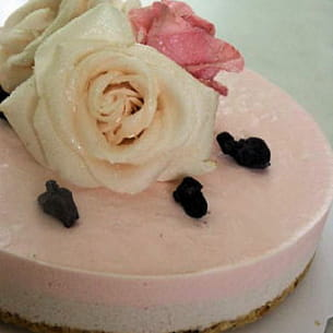 cheesecake rose-violette