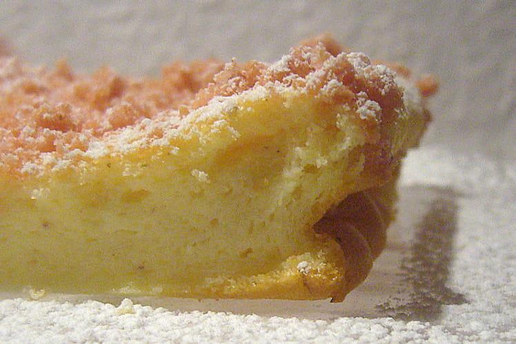 Gâteau à la ricotta et biscuits roses