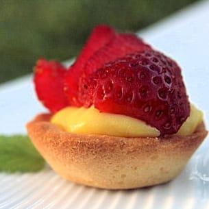 mini tartelettes classiques aux fraises