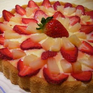 tarte citronnée fraise-ananas