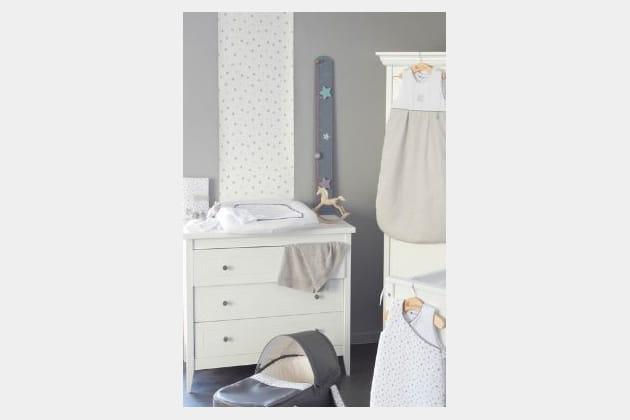 papier peint mon petit man ge etoiles par candide. Black Bedroom Furniture Sets. Home Design Ideas