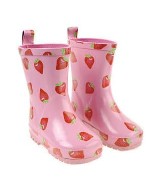 bottes pluie rose frutti