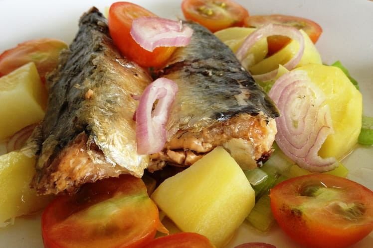 Salade tiède poireaux et sardines