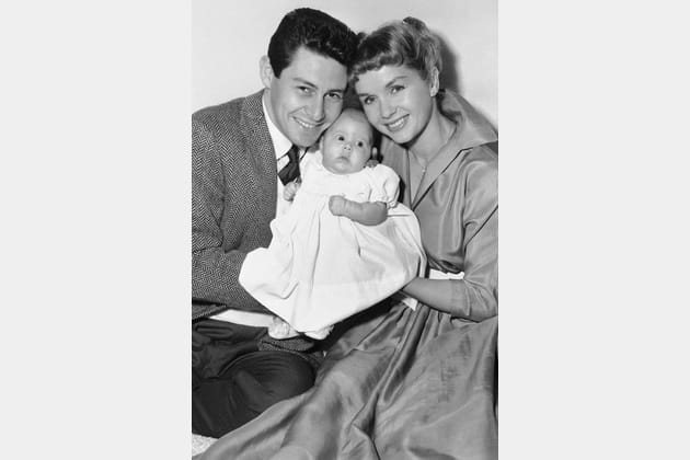 Debbie Reynolds et Eddie Fisher, jeunes parents