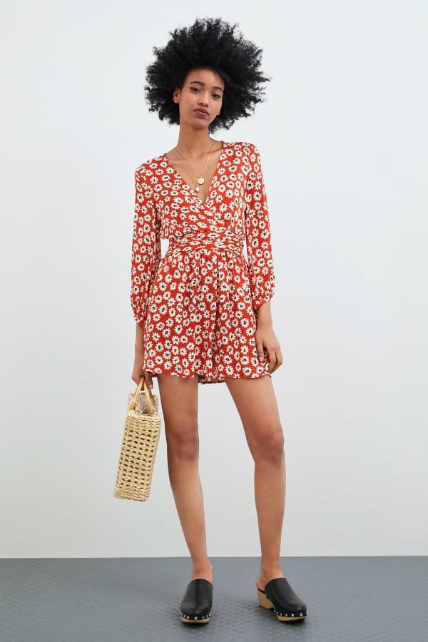 best sell cute cheap latest Combi-short fleuri de Zara