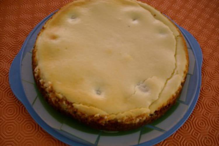 Cheesecake au chocolat blanc sur lit de poires