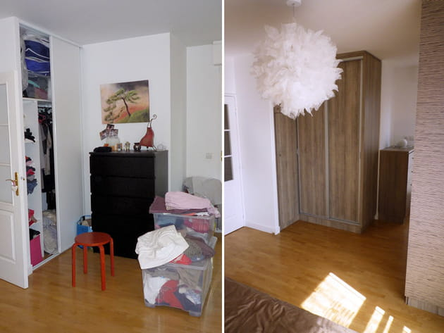 Avant-après: l'armoire de gauche