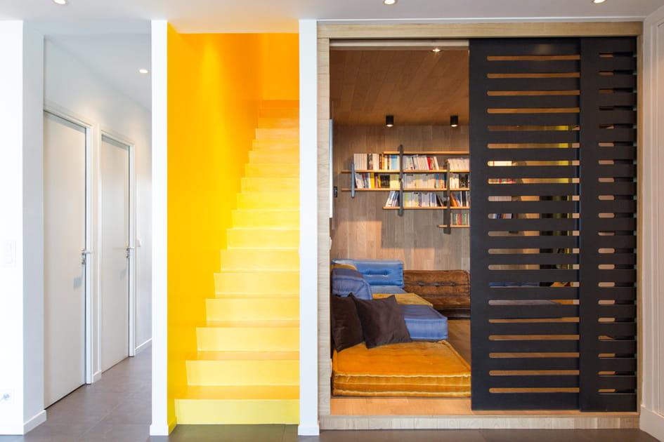 Un escalier devenu pièce de couleur