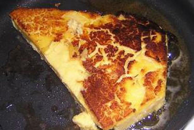Galette de polenta aux abricots