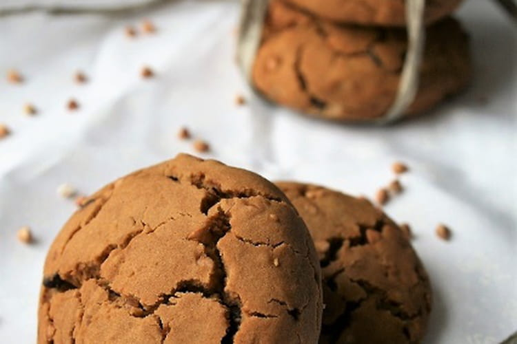 Cookies aux graines de sarrasin et pépites de chocolat, sans gluten sans lait sans oeufs