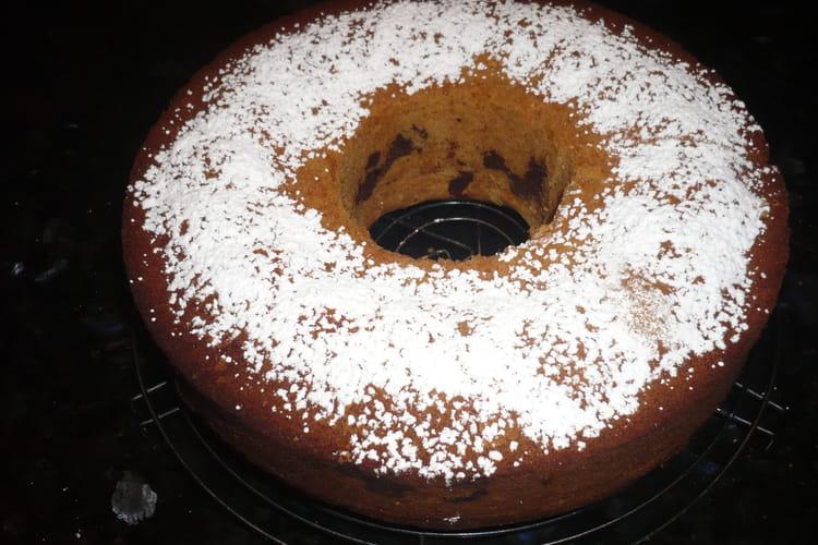 Gâteau marbré au sucre glace
