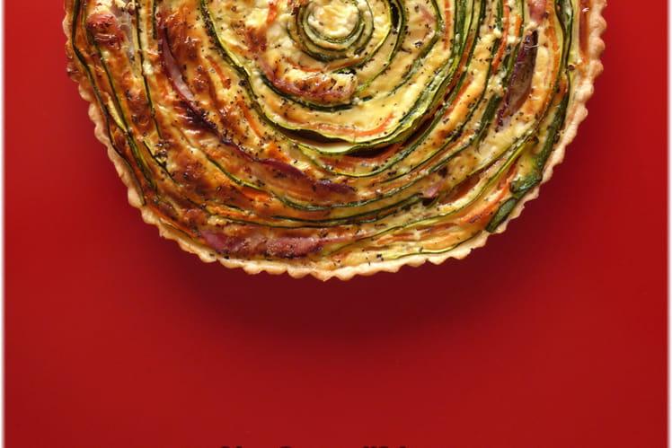 Tarte spirale courgettes carottes jambon st môret