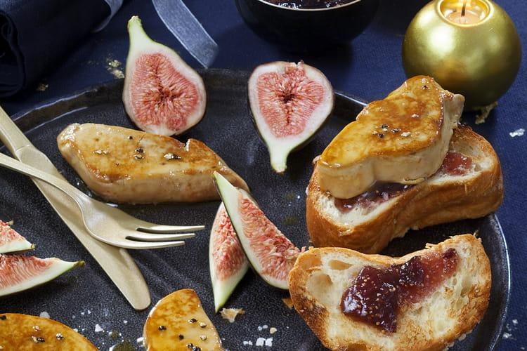 Foie gras poêlé sur briochée dorée