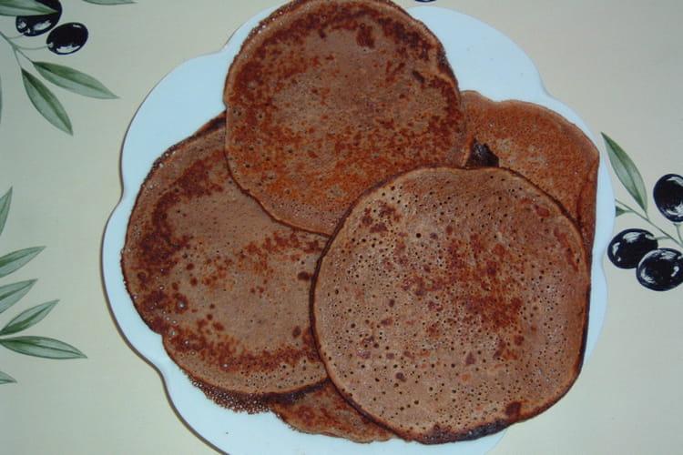 Crêpes à la farine de châtaigne et au Perrier