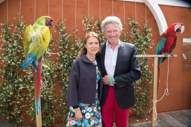 Nelson Monfort et sa femme Dominique