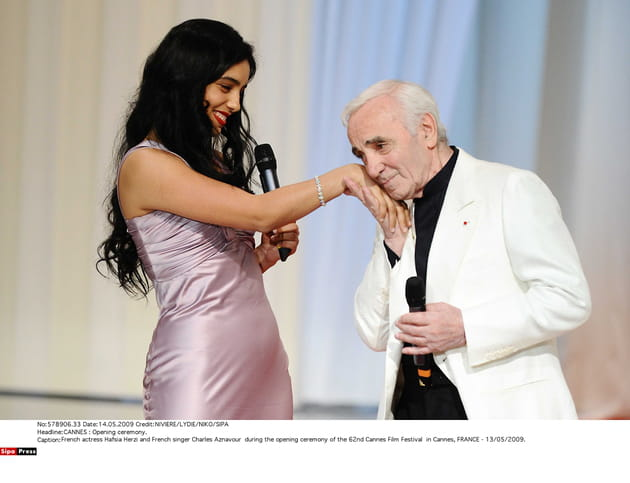 Avec Hafsia Herzi en 2009, pendant le Festival de Cannes
