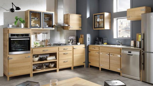 cuisine b stro de conforama. Black Bedroom Furniture Sets. Home Design Ideas