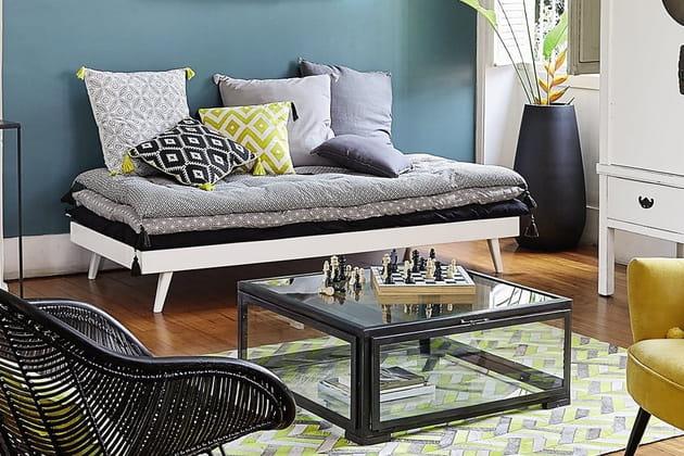 daybed sixties de maisons du monde. Black Bedroom Furniture Sets. Home Design Ideas