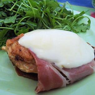 escalopes de poulet au jambon cru et à la mozzarella
