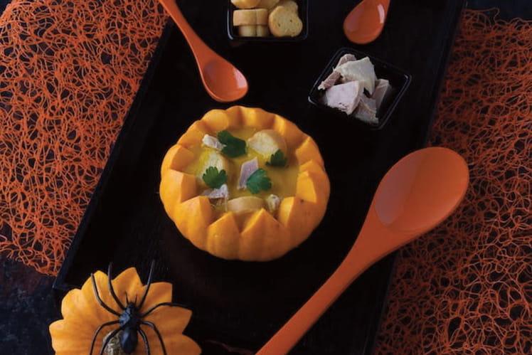 Velouté de thon blanc et potiron pour Halloween