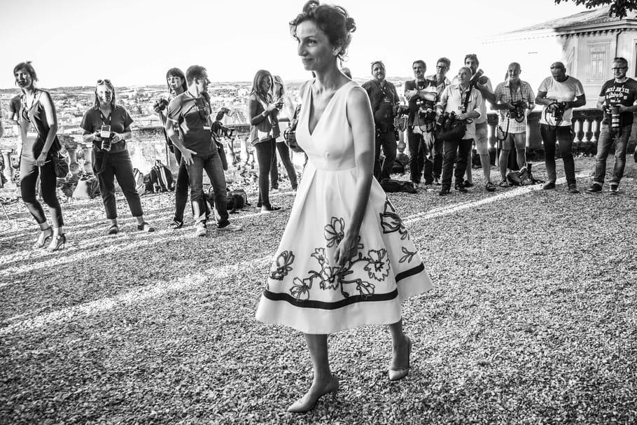 Audrey Azoulay, la ministre de la Culture dans la chaleur du Festival du Film Francophone d'Angoulême