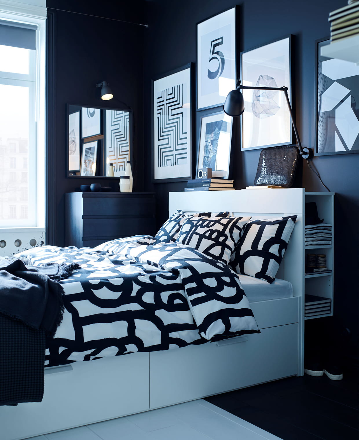 Cadre Et Tete De Lit Avec Rangement Ikea