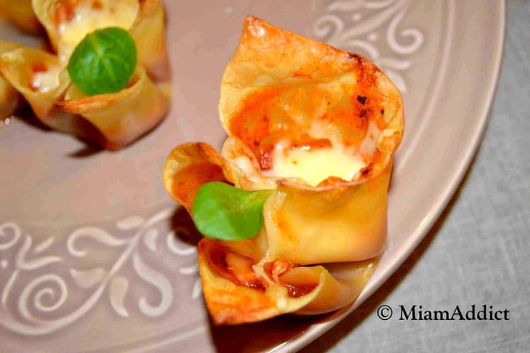 Mini lasagnes apéritives