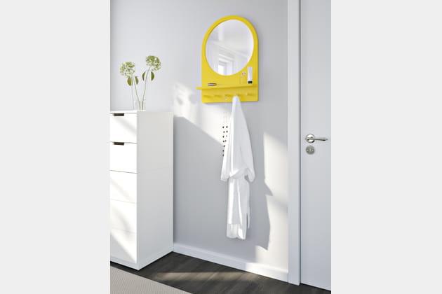 Portemanteau miroir Saltröd d'Ikea
