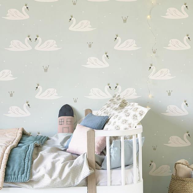 Papier peint Swans par Hibou Home