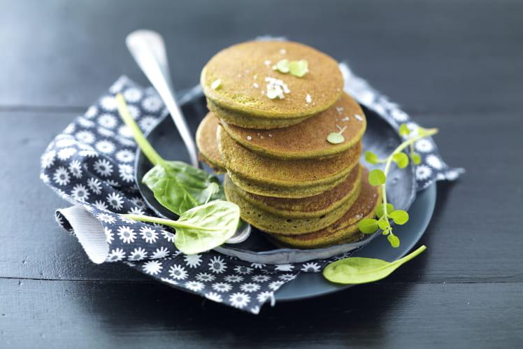 Pancakes d'épinards tous verts